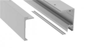 Set profil glisare Compact-X110 cu parte fixa montaj tavan