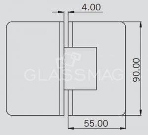 Balama S 1000 SHH 303 sticla-sticla dus 180º, finisaj lucios