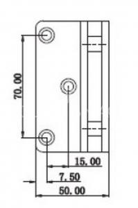 Balama S 1000 SHH 305 perete-sticla dus 90º, jumatate talpa, finisaj lucios
