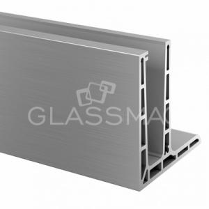 Profil U, Pro F, L=5000 mm, aluminiu, efect inox satinat
