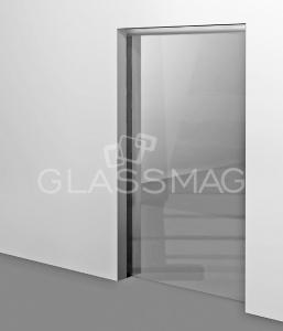 Set usa glisanta CS 80 Magneo Dorma LV2 pentru usa de sticla, L=1000mm