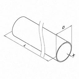 Teava ,Ø 42.4x2.0 mm ,L=5000 mm ,inox satinat