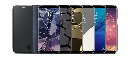 Mix culori Clear View Standing Cover Samsung Galaxy S8