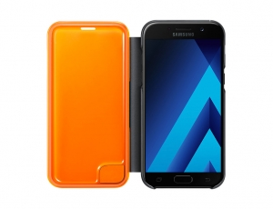 Husa originala Galaxy A5 (2017) A520 Flip Cover Neon Black