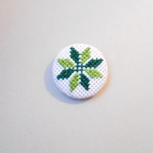 Brosa floare stea (verde)