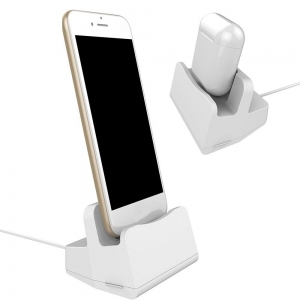 DOCKING STATION 2 IN 1 IPHONE / EARPODS CHARGING STAND, BLISTER