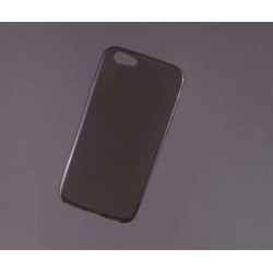 HUSA bumper iPhone 6 din gel siliconic TRANSPARENT fumuriu2