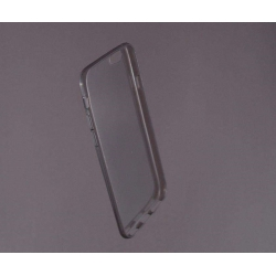 HUSA bumper iPhone 6 din gel siliconic TRANSPARENT fumuriu1