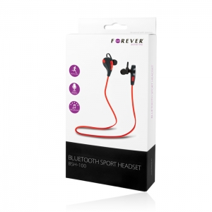 HANDSFREE BLUETOOTH FOREVER BSH-100, RED+BLACK