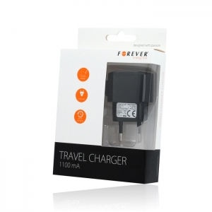 INCARCATOR PRIZA FOREVER IPHONE 4 / 4S 1100mAh, BLACK