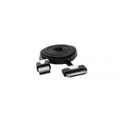 USB Cablu Flat compatibil cu iPHONE 4 Negru
