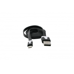 USB Cablu Flat compatibil cu iPHONE 5/6 Negru