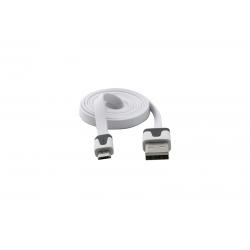USB Cablu Flat Micro USB Alb