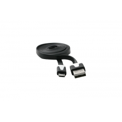 USB Cablu Flat Micro USB Negru