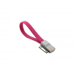 USB Cablu My-Magnet compatibil cu iPHONE 4 Roz