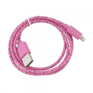 CABLU BRAIDED IPHONE 7 / 8, LIGHT PINK