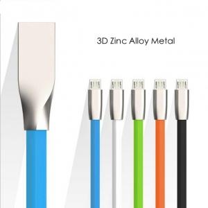 CABLU MICRO USB ZINC ALLOY (FAST CHARGING) WHITE