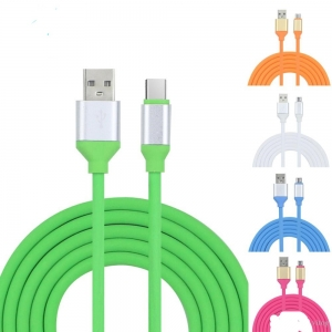 CABLU MICRO USB METALIC FASHION FAST CHARGING GREEN