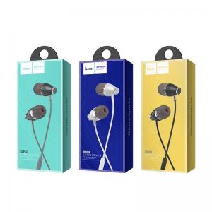 HANDSFREE HOCO M28 ARIOSE UNIVERSAL EARPHONE, METAL GRAY