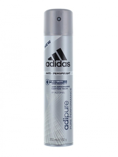 Adidas Deodorant spray, Barbati, 250 ml, Adipure 0