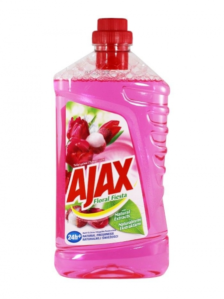 Ajax Detergent Pardoseli, 1L, Tulip Lychee 0