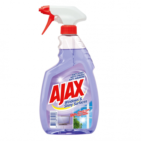 Ajax Solutie curatat geamuri, 500 ml, Windows and Shiny Surfaces 0