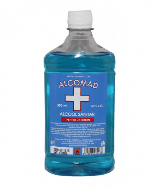 Alcomad Alcool sanitar 70, 500 ml 0