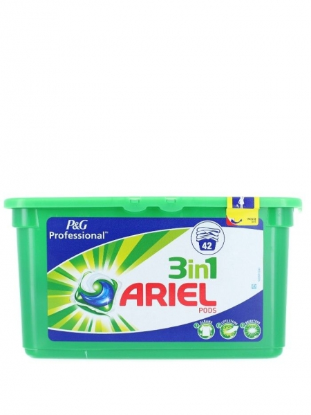 Ariel Detergent Capsule 3in1, 42 buc, Regular 0