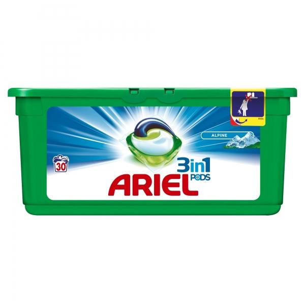 Ariel Detergent Capsule 3in1 PODS, 30 buc, Alpine 0