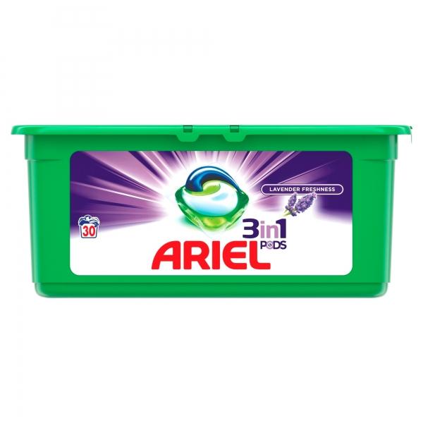 Ariel Detergent Capsule 3in1 PODS, 30 buc, Lavanda 0