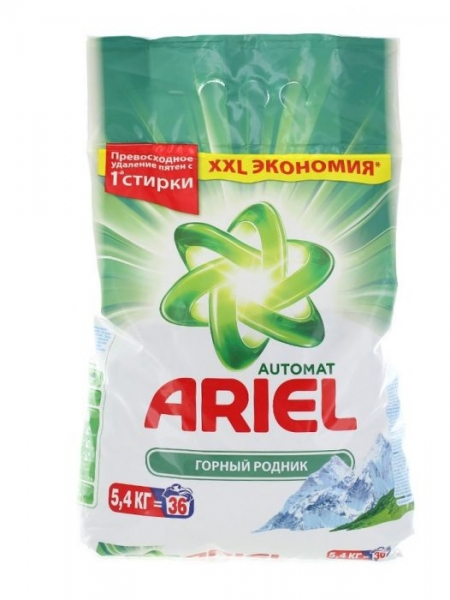 Ariel Detergent automat, 5.4 kg, 36 spalari, Mountain Spring 0