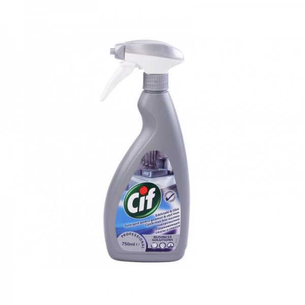 Cif Detergent pentru Geamuri si Otel, Inox, cu pompa, 750 ml, Professional 0