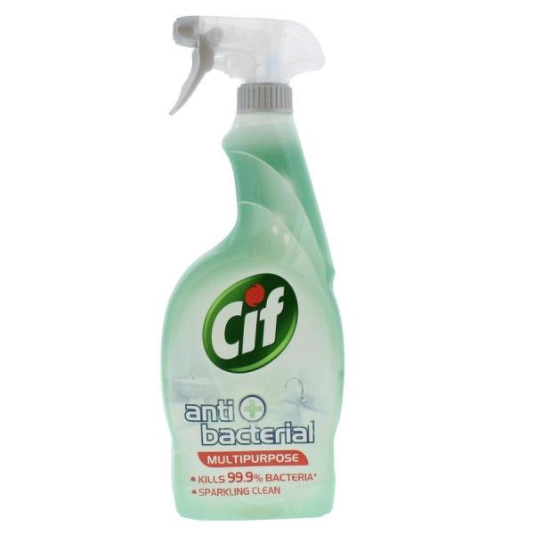 Cif Solutie curatat suprafete, cu pompa, 750 ml, Antibacterial 0