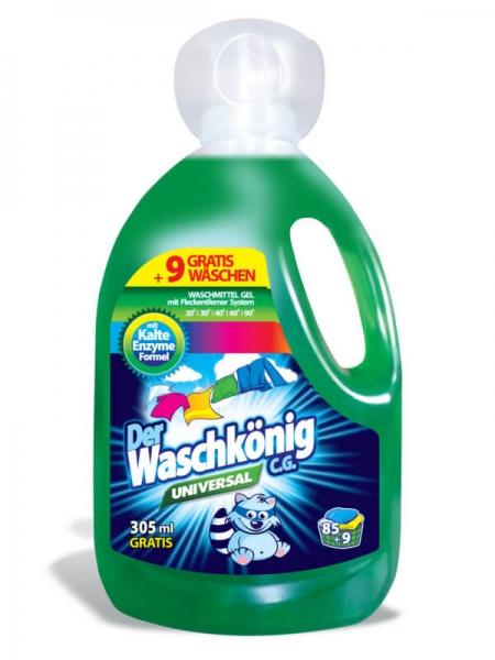Der Waschkönig C.G. Detergent lichid, 3305 ml, 94 spalari, Universal 0