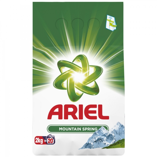 Ariel Detergent automat, 2 kg, 20 spalari, Mountain Spring 0