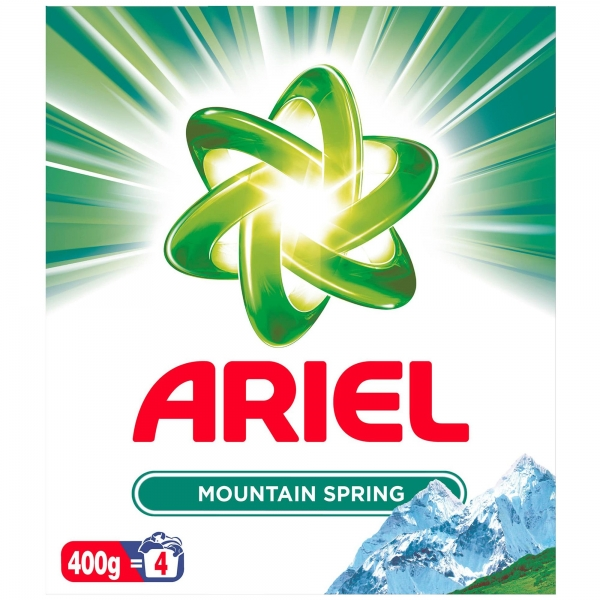 Ariel Detergent automat, 400 g, 4 spalari, Mountain Spring 0