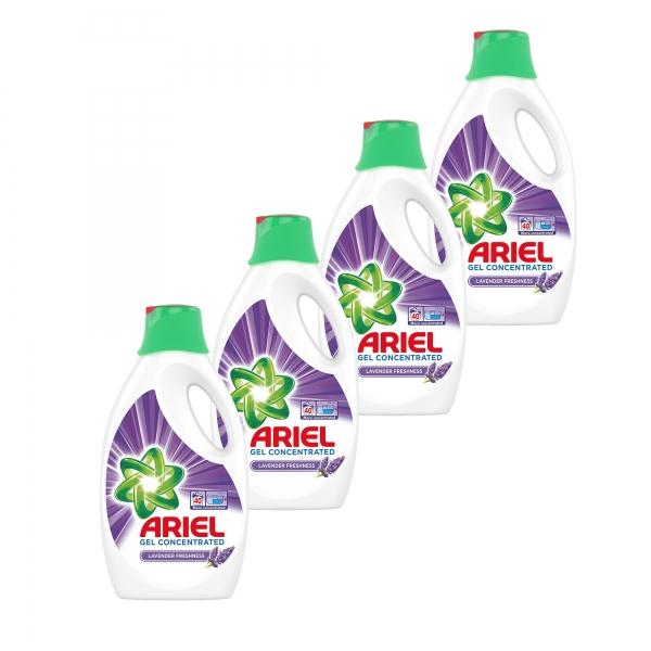 Pachet promo 4 x Ariel Detergent lichid, 2.2L, 40 spalari, Lavanda 0
