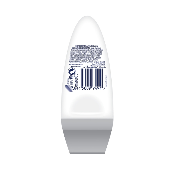Dove Deodorant Roll-on, Femei, 50 ml, Invisible Dry 1
