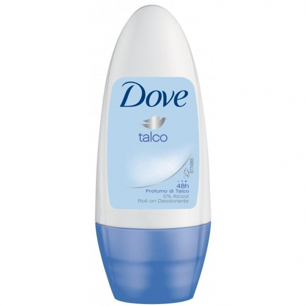 Dove Deodorant Roll-on, Femei, 50 ml, Talco 0