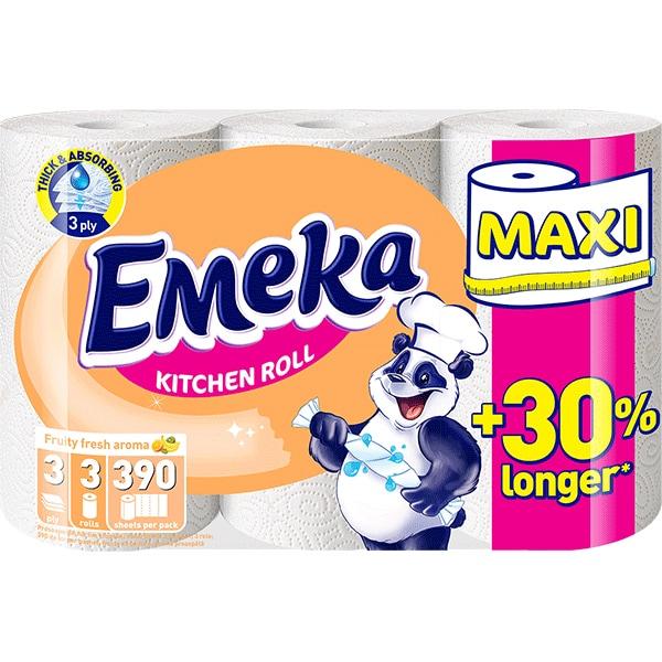 Emeka Fruity Fresh Prosop hartie, 3 role, Maxi 0
