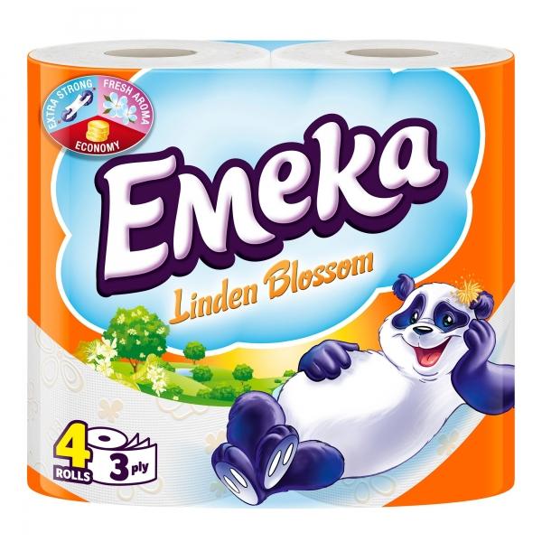 Emeka Linden Blossom Hartie igienica, 3 straturi, 4 role 0