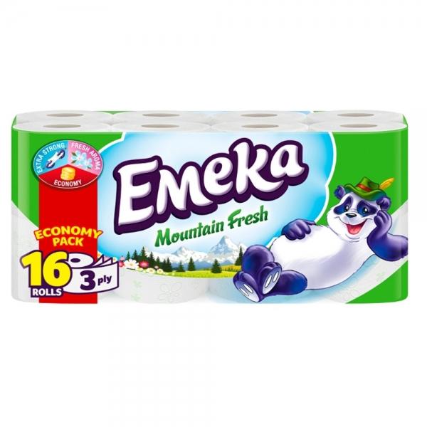 Emeka Mountain Fresh Hartie igienica, 3 straturi, 16 role 0