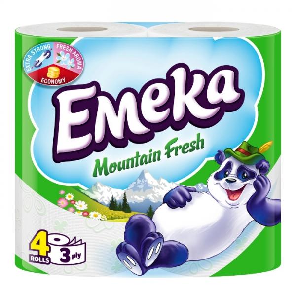 Emeka Mountain Fresh Hartie igienica, 3 straturi, 4 role 0