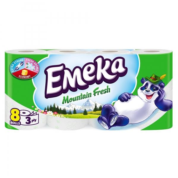 Emeka Mountain Fresh Hartie igienica, 3 straturi, 8 role 0