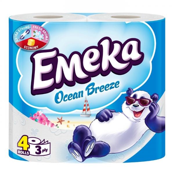 Emeka Ocean Breeze Hartie igienica, 3 straturi, 4 role 0
