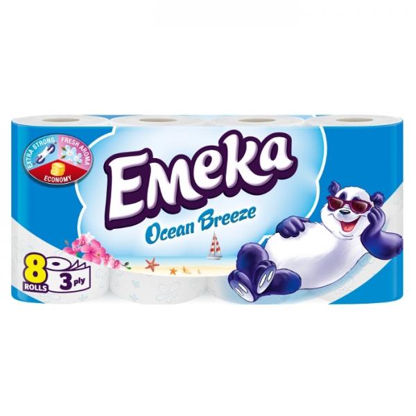 Emeka Ocean Breeze Hartie igienica, 3 straturi, 8 role 0