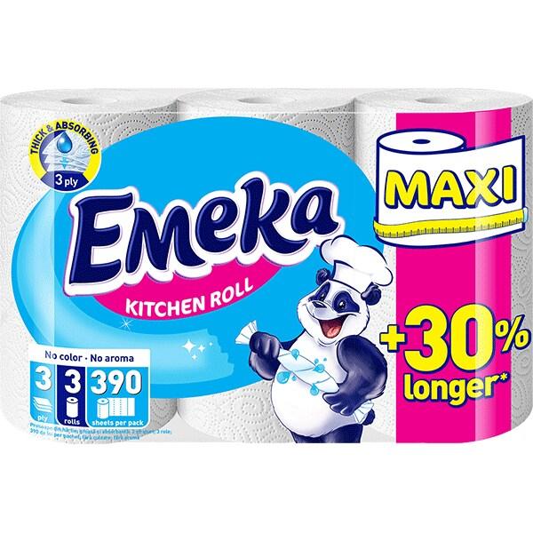 Emeka White Prosop hartie, 3 role, Maxi 0