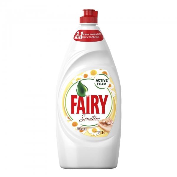 Fairy Detergent pentru vase, 800 ml, Sensitive Chamomile & Vitamin E 0