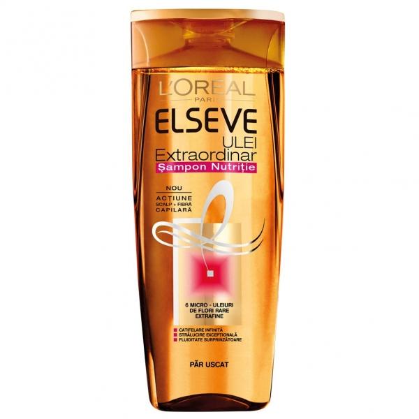L Oreal Elseve Sampon, 400 ml, Ulei Extraordinar pentru par uscat 0