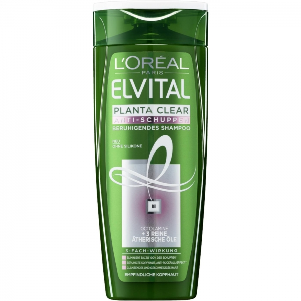 LOreal Elseve Sampon anti-matreata, 250 ml, 2 in 1 Planta Clear pentru par sensibil 0
